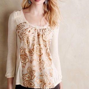 Anthropologie Meadow Rue Mariana Floral Blouse